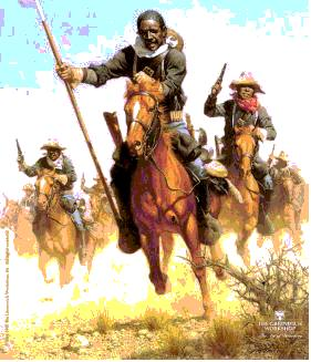 Buffalo soldiers ride!
